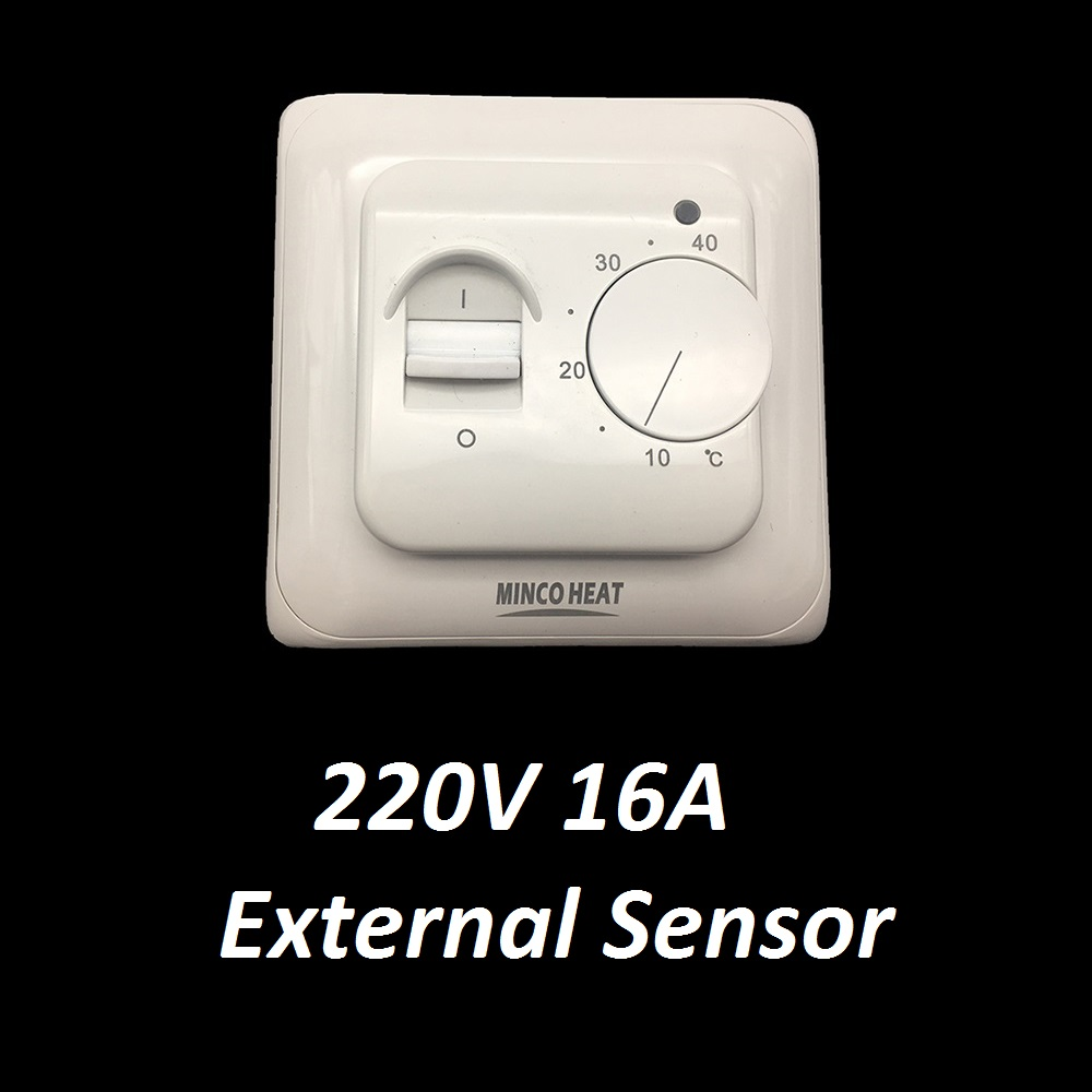 Mechanical Electric Temperature Controller 220V 16A Floor Heating Room Thermostat