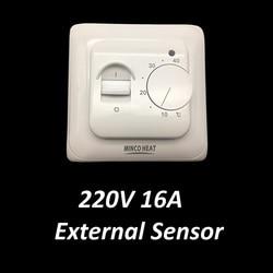 Mechaniczny elektryczny regulator temperatury 220V 16A termostat pokojowy do ogrzewania podłogowego w Części do nagrzewnicy elektrycznej od AGD na