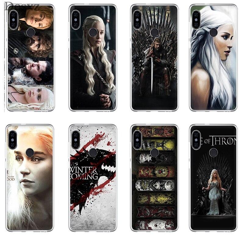 טלפון מקרה משחק של הכס Targaryen בית לשיאו mi mi 5S 6 6X8 SE A1 A2 mi x 2 s לייט אדום mi 6A כיסוי