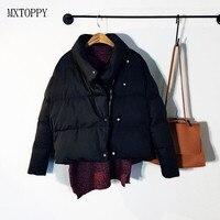 Winter Casual New Fashion Women Solid Color Irregular Short Cotton Jacket Coat