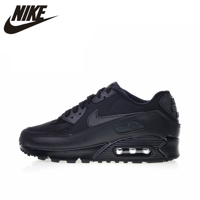 online retailer 57e35 f56de Original Authentic Nike Air Max 90 Essential Men s Running Shoes Sport  Outdoor Breathable Sneakers 2018 New