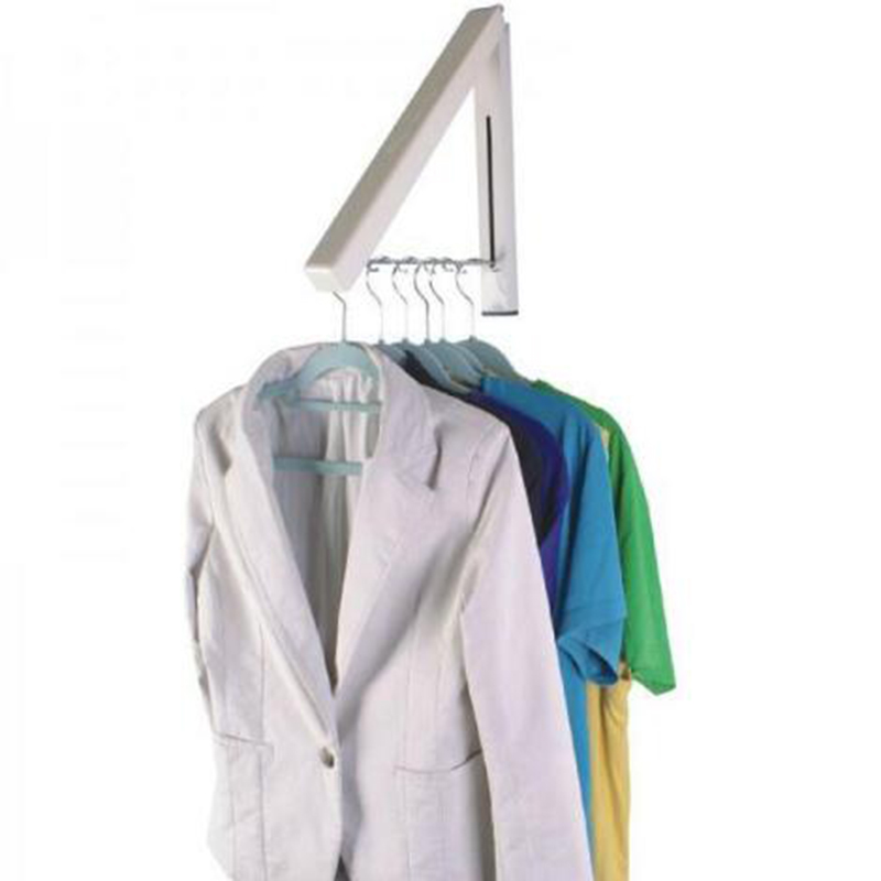 Hot Sale Stainless Steel Wall Hanger Retractable Indoor Clothes Hanger  Magic Foldable Drying Rack Waterproof Clothes