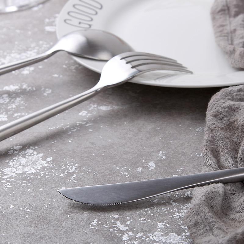 Gümüşü bıçaq dəsti 304 Paslanmayan poladdan hazırlanmış - Mətbəx, yemək otağı və barı - Fotoqrafiya 5