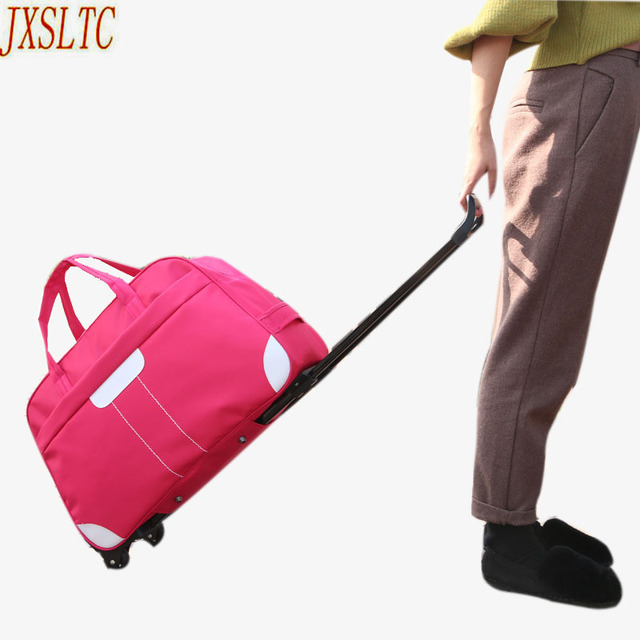 JXSLTC Fashion Waterproof Luggage Bag Thick Style Rolling Suitcase Trolley Luggage Women&Men Travel Bags Suitcase With Wheels