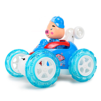 Baby Boys Girl Electric Toys Rolling Stunt Dump RC Car Remote Control Car Kids Musical Light Children Toys 2019 Hot Sale