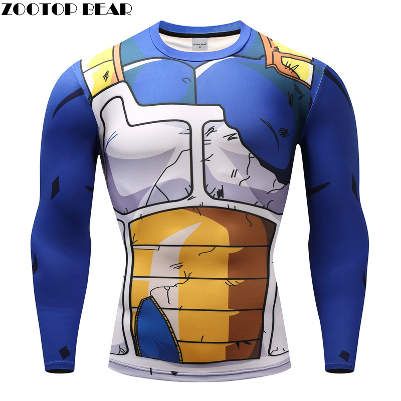 Dragon Ball T shirts Men Anime Fitness T-shirts Cosplay Compression Tshirts Bodybuilding Tops Tees Naruto GOKU Vegeta Camiseta