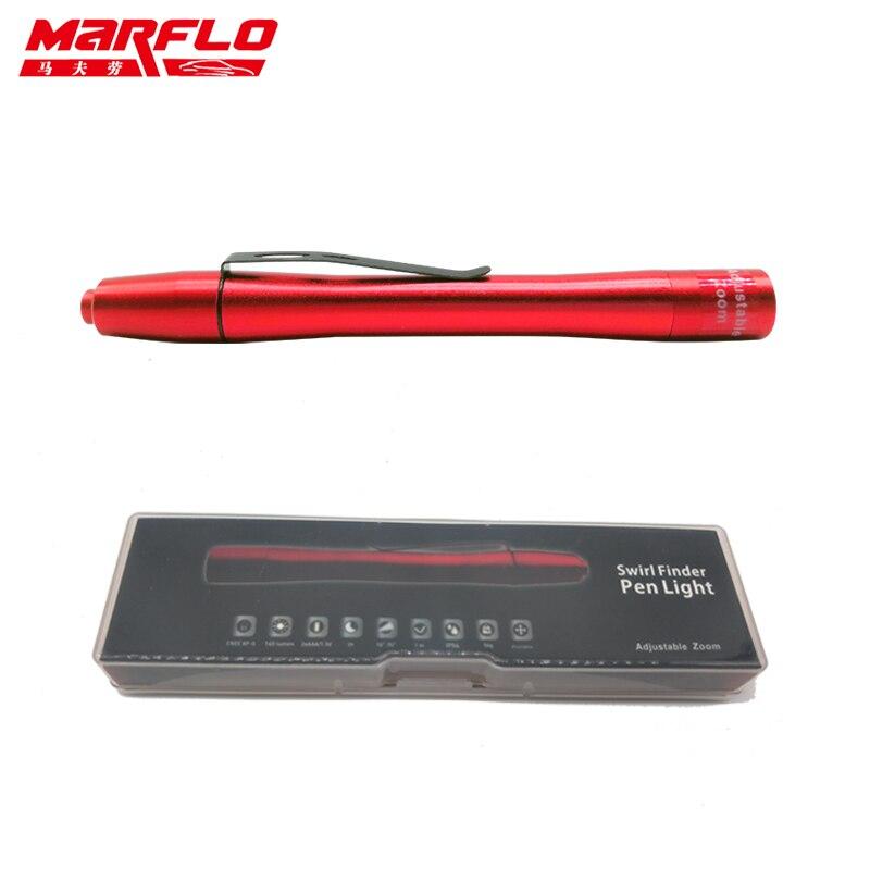 Marflo Auto Farbe Finshing Swirl Finder Licht Stift Leichter für Auto Waschen und Farbe Finish Werkzeuge