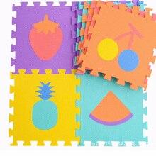 Fruit Pattern 6 Pcs/Set 30*30cm*1cm foam Mats Waterproof EVA Carpets For Living Room Anti-Slip Soft puzzle Rugs For Childern