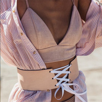 Blusa Limited Polyester Velour Camis None Crop Tops Strappy Bra 2017 New Self Cultivation Sling Vest