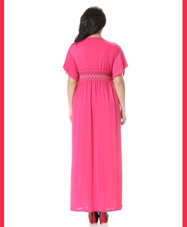 Sommer Rosa Langes Kleid Dressses Vintage Plus Größe Uk Eis Silk ...