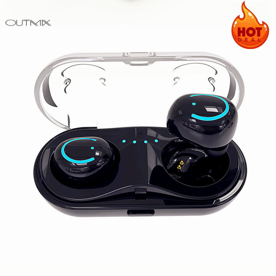 OUTMIX Bluetooth Earphones In Ear Wireless Headphones Stereo Earbuds Sports Headset TWS With Mic For iphone xiaomi samsung in Bluetooth Earphones Headphones from Consumer Electronics