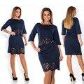 Новая Мода Летнее Платье Женщин Плюс Размер Выдалбливают Рубашки Платья подходит Жира ММ L-6XL Свободные Большой Размер Партии Одежда Robe Femme