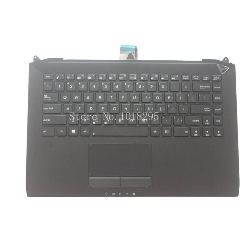 English Keyboard for ASUS G46 G46V G46VW backlight US laptop keyboad Palmrest Cover BLACK laptop keyboard for asus s500 vivobook s500c s500ca black without frame us english 0knb0 6128us00
