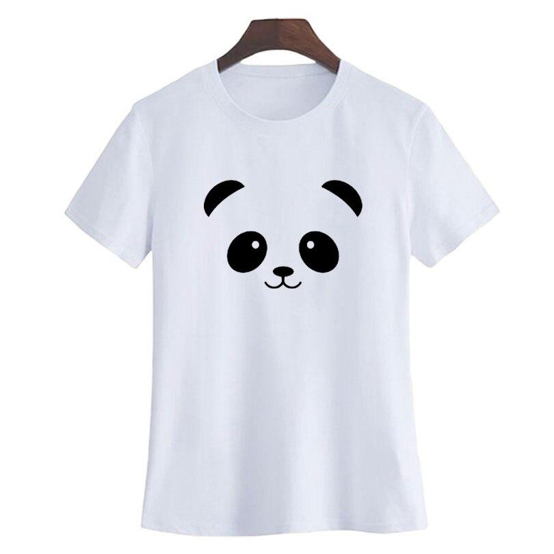 Panda T Shirt Cute Panda Lovers Animal Printed Crewneck Short Sleeve Fashion Women Clothing Kawai Harajuku Graphic Tee Shirt