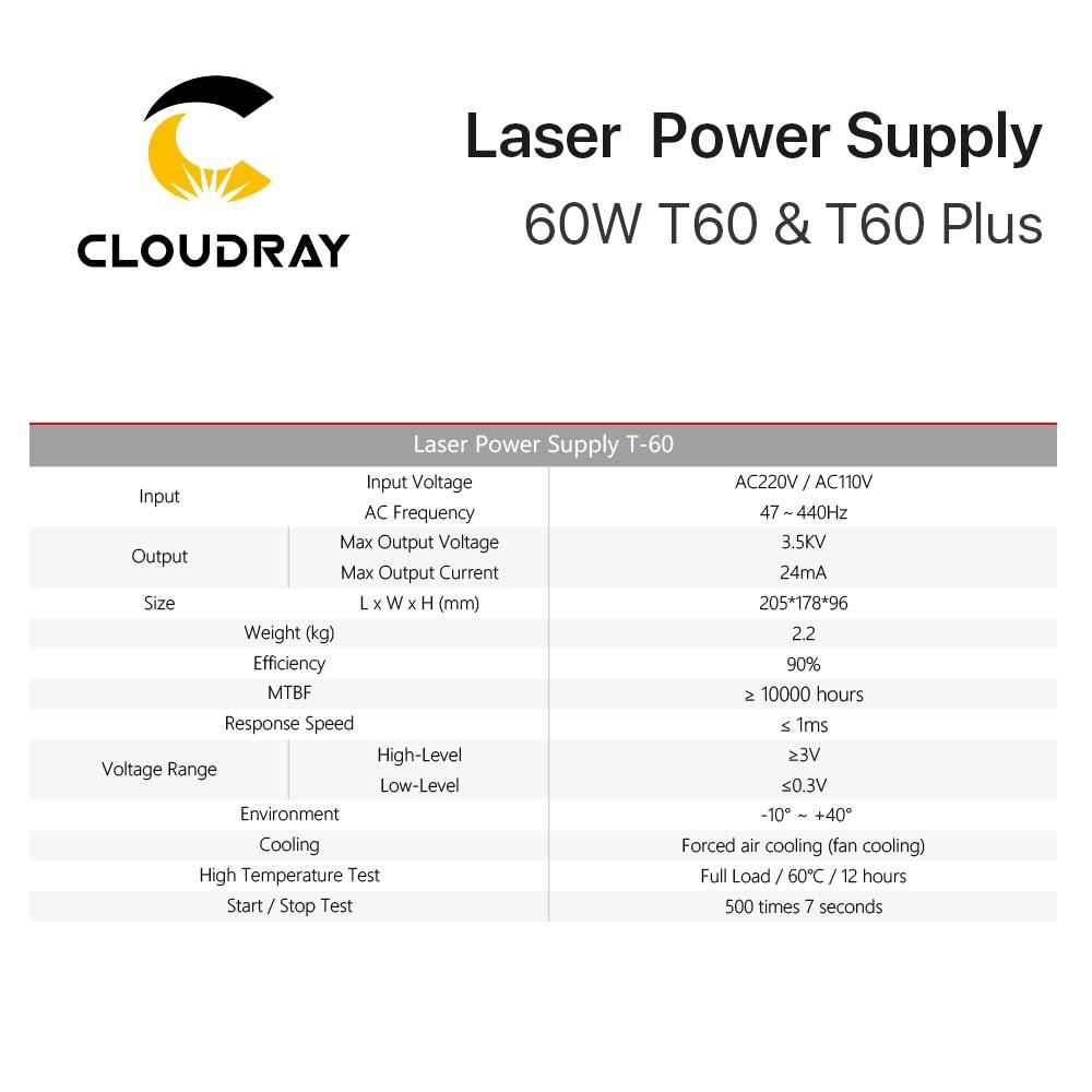 Cloudray 60 W-os CO2 lézer tápegység hosszú távú garanciával - Famegmunkáló gépek alkatrészei - Fénykép 5