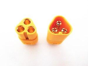 "Image 4 - 20 זוג/50 זוג/100 זוג MT60 3.5 מ""מ 3 מוט כדור מחבר תקע עבור Lipo סוללה Brushless ESC מנוע"