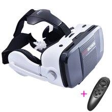 ที่มีคุณภาพสูงG Oogleกระดาษแข็งVR Boss 3Dเกมวิดีโอแว่นตาความจริงเสมือนกล่องหูฟังสำหรับมาร์ทโฟนH Eadmountหมวกกันน็อคกรณี