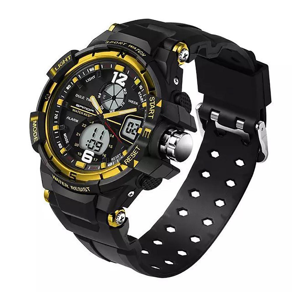 Temperamentvoll Wasserdicht 50 Mt Silikon Band Led Leucht Alarm Militär Sport Elektronische Männer Armbanduhr Uhren 2019 New Fashion Style Online