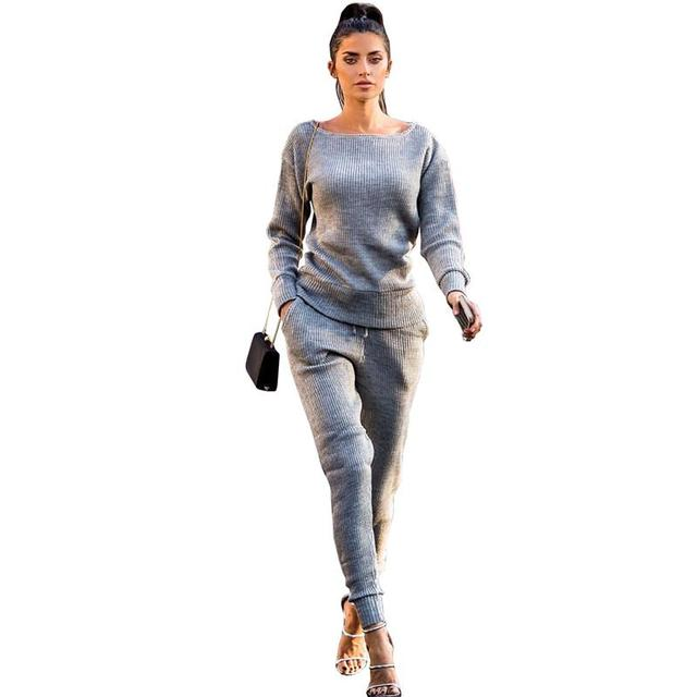 Autumn Winter Women Tracksuit 2 Piece Set Clothing Casual Sportswear Suit Woman Hoodies Sets WS3831V