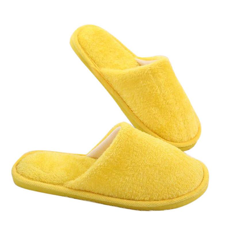 Oeak รองเท้าแตะผู้หญิง 2019 ฤดูหนาวรองเท้า Fluffy รองเท้าแตะสี Candy WARM Plush ผู้หญิงในร่มรองเท้า EVA Drop Shipping
