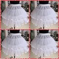 2016 Flower Girls Petticoats Short White Underskirt For Flower Girls Tutu Dresses One Hoop Two Layers Crinoline For Girls Gowns
