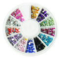 glitter 3d nail art decorations 12 colors 2mm round diamond drill rhinestones for nails