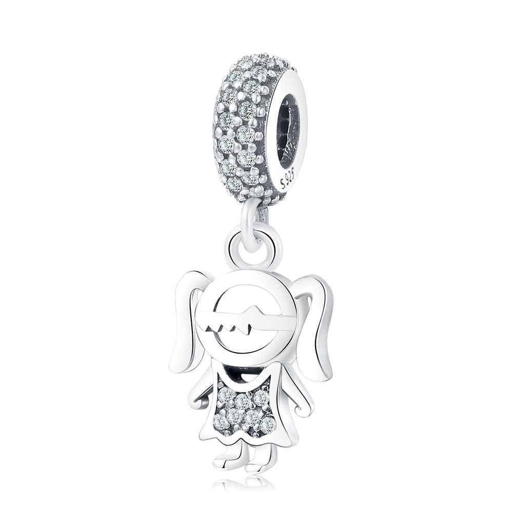 a2b0db031 Fit Original Pandora Charm Bracelet Necklace 925 Sterling Silver Charm Bead  Mother's Gift Jewelry Boy Girl