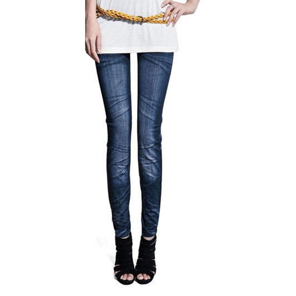 Women Denim Jeans Sexy Skinny Leggings Jeggings Stretch Pants Trousers YQ-in Leggings from Women ...