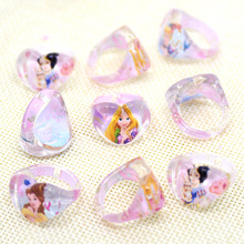 12pc/lot Princess Crystal  Acrylic Kids Finger Rings Party Costume Birthday Party Favors Gifts Party Supplies