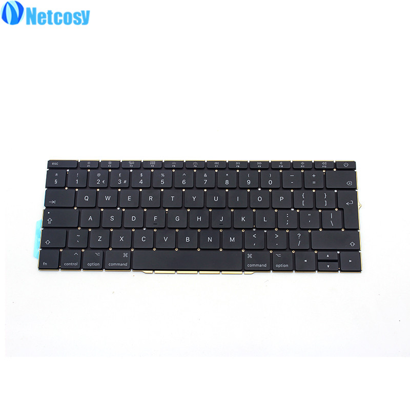Netcosy For Macbook Pro Retina 13 A1706 New UK Replacement keyboard Laptop Uk Version standard keyboard For Macbook A1706 100% new original laptop keyboard us version for macbook a1706 us keyboard replacement page 3