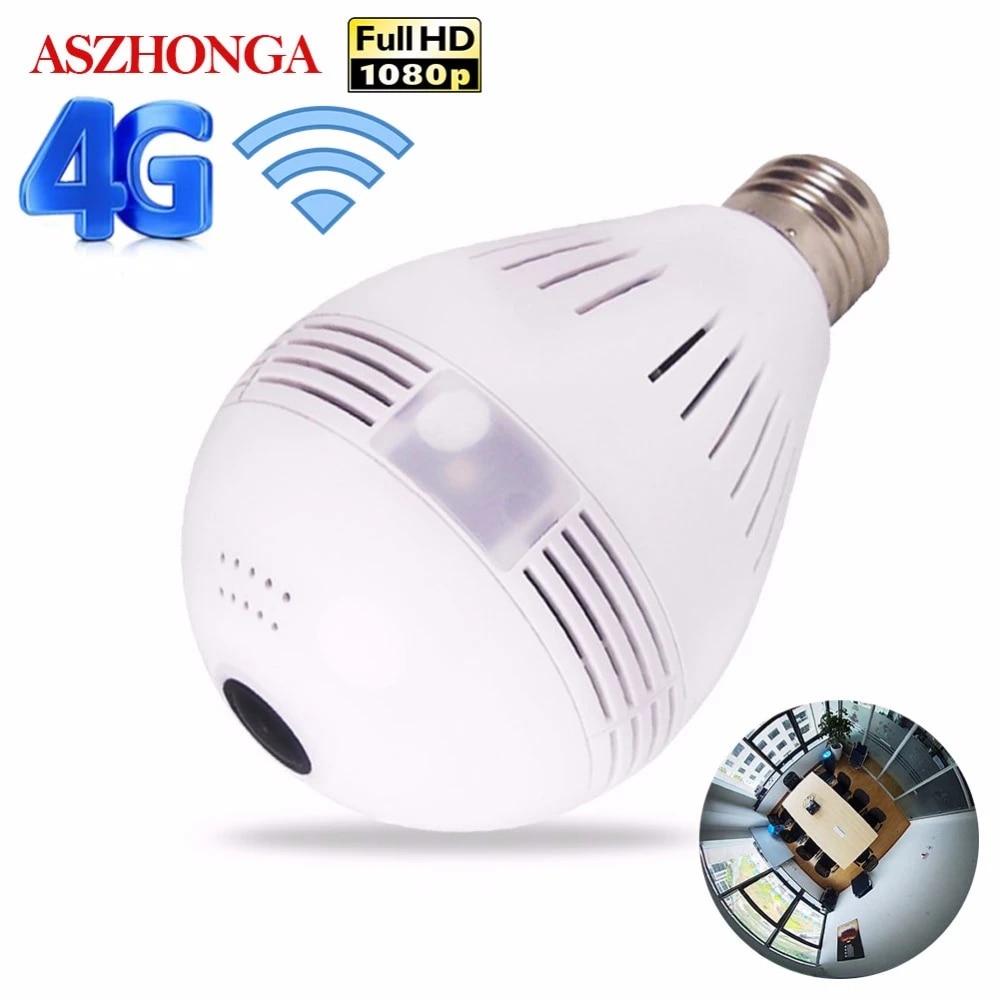 3G 4G SIM Karte 1080P HD Drahtlose Dome IP Kamera Birne Wi Fi 360 Grad  FishEye VR Audio hause CCTV Sicherheit Licht Modul Kamera|security wifi  camera|wireless ip cameraip camera - AliExpress