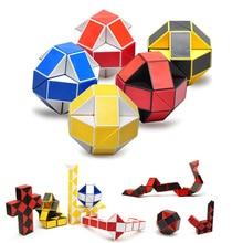 24 Puzzle Original Ruler Magic Cubes Puzzle Magic Ruler Cube Snake Twist Puzzle Educational Toy for Children
