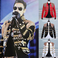 male jacket TASSEL sequin black costume outfit blazer outwear clothes singer dancer performance prom dress fashion nightclub bar