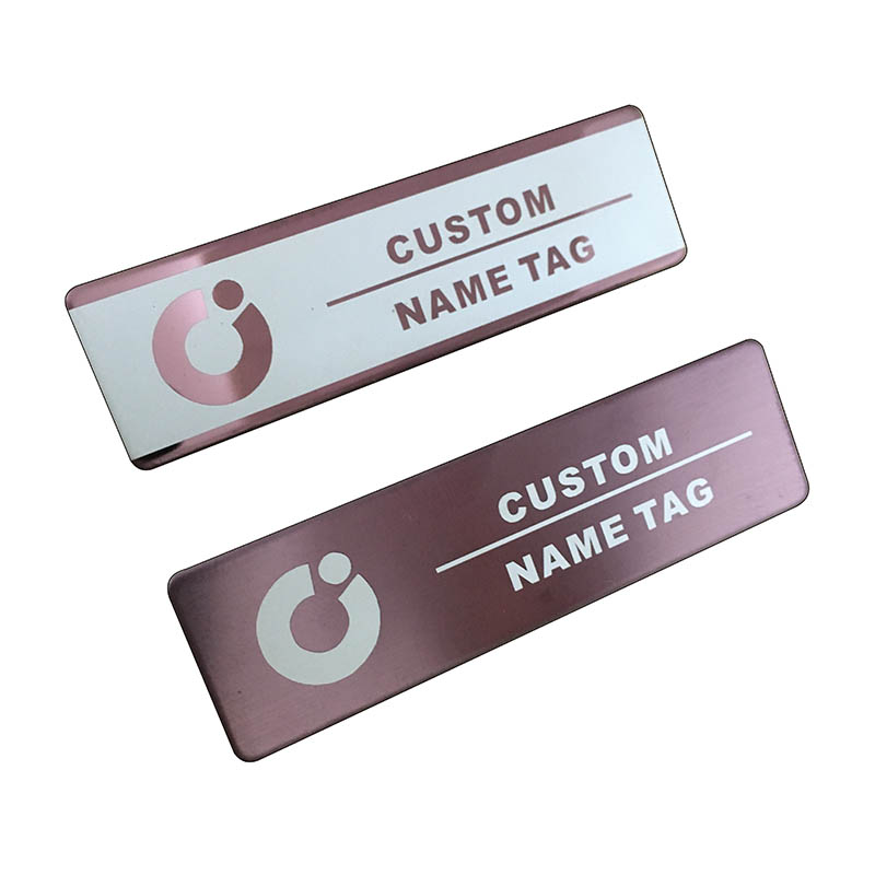 10pcs custom name tag personalized name badge id business laser name plate badge with magnet or pin  (31)