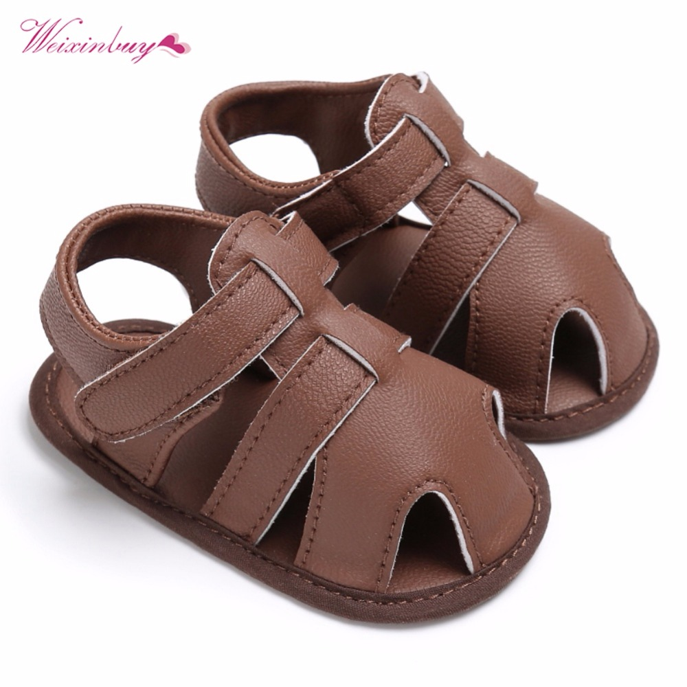WEIXINBUY Newborn Baby Boys Shoes PU Leather Kids Schoenen First Walkers Soft Soled  Infant Prewalker