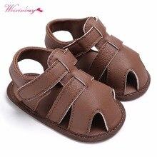 WEIXINBUY Newborn Baby Boys Shoes PU Leather kids schoenen F