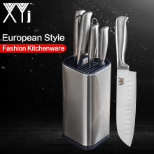 XYj Stainless Steel Kitchen Knife Set Kitchenware Holder Sharpener Cooking Accessory Chef Best Tool