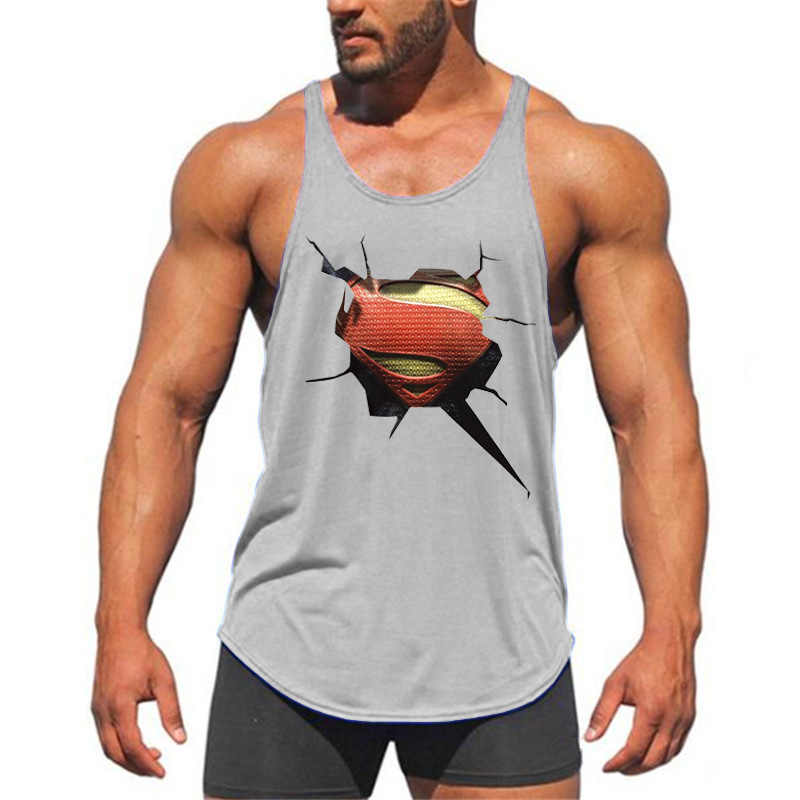 1e7eabe015363 Brand Fitness Clothing 3D Superman gyms tank top men bodybuilding stringer  singlets muscle vest Weightlifting Sleeveless