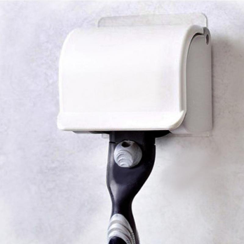 1pc Men's Razor Shaver Plastic Razor Rack Sucked Sticky Cup Holder Hanger Holder Beauty Accessories