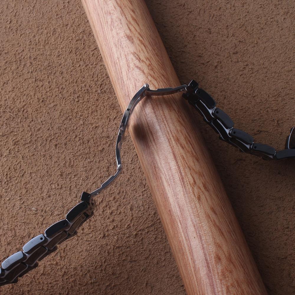 Bracelets de haute qualité en céramique Pure noire avec bracelet de montre blanc bracelets 20mm 21mm 22mm 24mm pour broche de dégagement rapide Gear S2 S3 - 6
