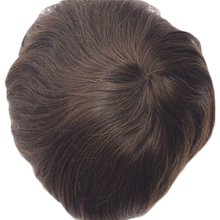 Stock 7″x9″ Remy Indian Human Hair Men's Toupee Super Thin Skin 120% Hair Density Free Shipping