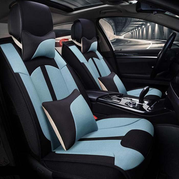 Авто сиденья полные комплекты Универсальный Fit 5 сиденье внедорожник седанов спереди/на заднем сиденье коврики автомобильные льняной ткани...