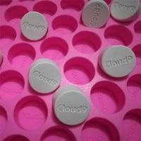 Grand-Moule Personnalisé 49 Cavités En Silicone Moule pour Parfum Cire Personnalisation Personnelle Savon Moule Bougie Chocolat Avec Votre Logo