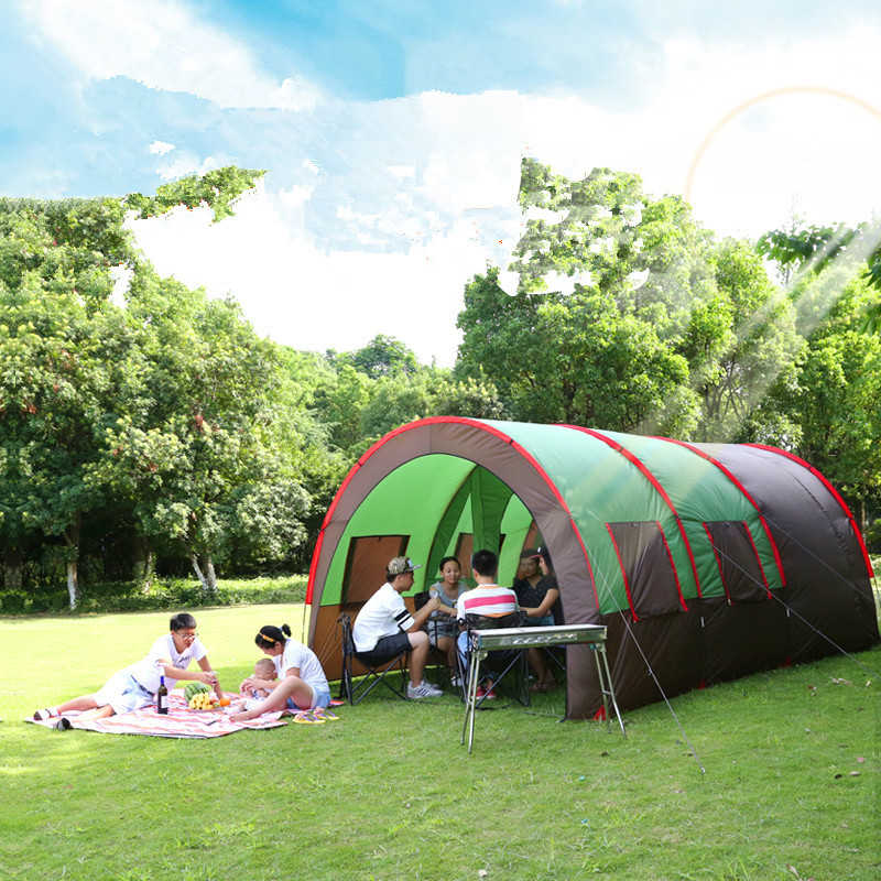 6 10 person large family tent c&ing tent sun shelter gazebo beach tent tunnel tent for Advertising/exhibition-in Tents from Sports u0026 Entertainment on ... & 6 10 person large family tent camping tent sun shelter gazebo ...