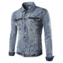 Neue mode für männer denim jacke jeans mantel outwear beiläufige jacken M L XL XXL