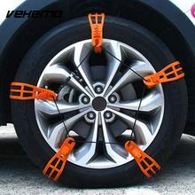 VEHEMO 1 Pc TPU Roadway Safety Easy Installation Snow Tire Belt Anti-Skid Chains Winter Driving Snow Chain Mud Wheel