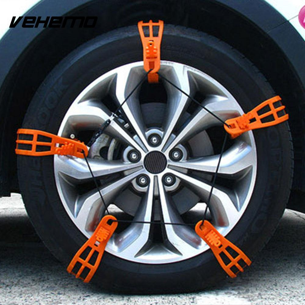VEHEMO 1 Pc TPU Roadway Safety Easy Installation Snow Tire Belt Anti-Skid Chains Winter Driving Snow Chain Mud Wheel