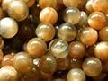 Freeshipping (42 contas/set) natural incrível Botswana 9-9.5mm preto loost sunstone rodada beads para jóias diy