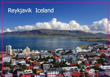 Free Shipping over $12,Landscape reykjavik, the capital of Iceland Photo Fridge Magnet 5441 Tourism Souvenir