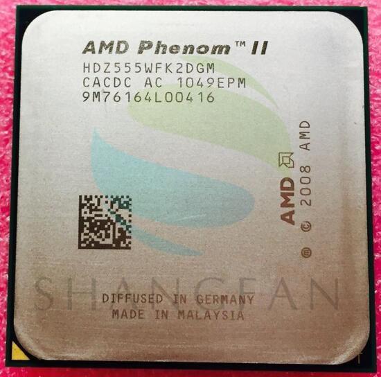 AMD Phenom II X2 555 3.2GHz Dual-Core (3.2Ghz/ 6M /80W / 2000GHz) CPU Processor HDZ555WFK2DGM Socket AM3 938pin